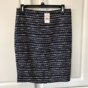 J Crew Professional Tweed Pencil Skirt